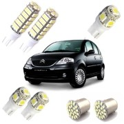 Kit Led Citroen C3 Pingo Teto Placa Ré