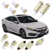 Kit Led New Civic G10 Pingo Teto Placa Ré