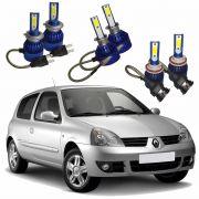Kit Super Led Clio Farol e Milha 2004 2005 2006 2007 6000k