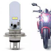 Lampada Farol Led Para Moto H4 Super Branca 6 leds SMD CMC