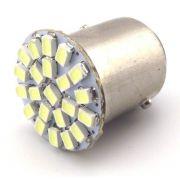 Led Lampada Ré 22 Smd Luz Tuning 1156 P21w Efeito Xenon Kit c/ 10 Atacado