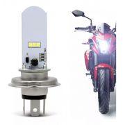 Led Moto Farol H4 Super Branca 6 leds SMD CMC