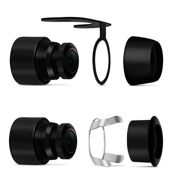 Câmera de Ré Universal 2x1 Borboleta ou Parachoque