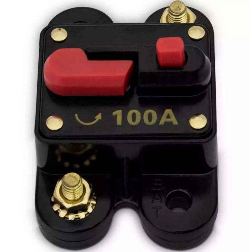 Disjuntor Som Automotivo 100 Amperes Proteção Resetável
