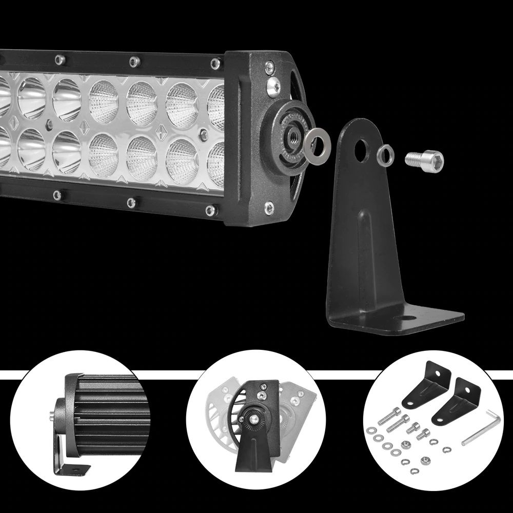 Farol Barra LED Auxiliar 120W 40 LEDs Off Road Jeep