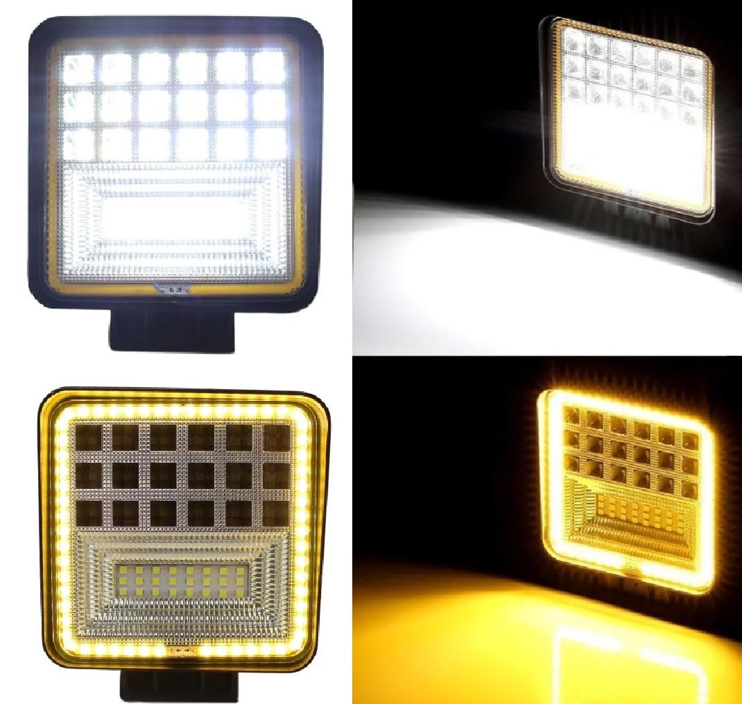 FAROL DE MILHA LED SETA 7D 42 LEDs 126W OFF ROAD