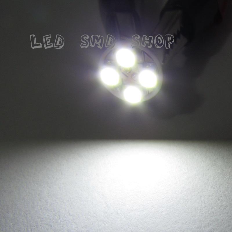 Kit 10 Lampadas Pingo 4 Leds Smd T10 W5w Tuning Xenon