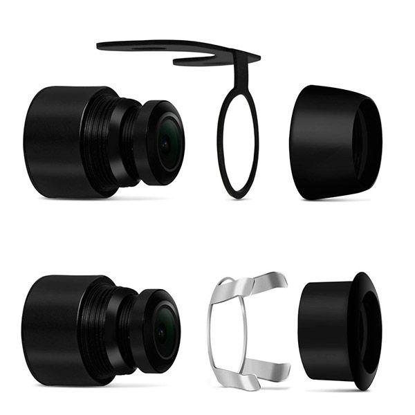 Kit 10 x Câmera de Ré Universal 2x1 Borboleta ou Parachoque