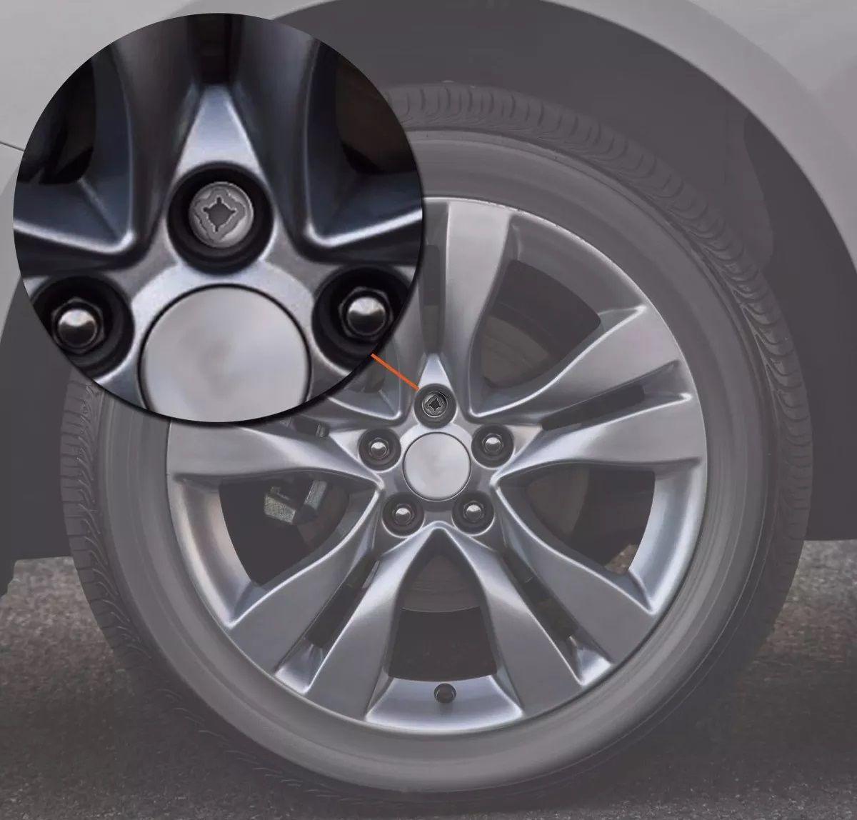 Kit 4 Parafusos De Roda Antifurto Peugeot Citroen Renegade Toro Compass