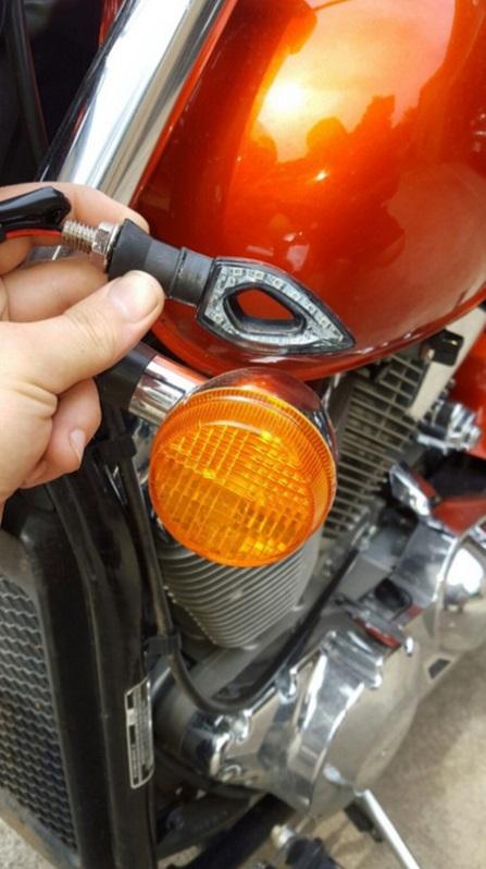Kit 4 Piscas Seta Moto Vazado Universal 12 Leds + 2x Resistor