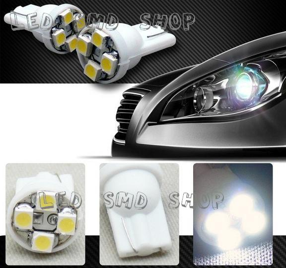 Kit 50 Lâmpadas Led T10 4 SMD