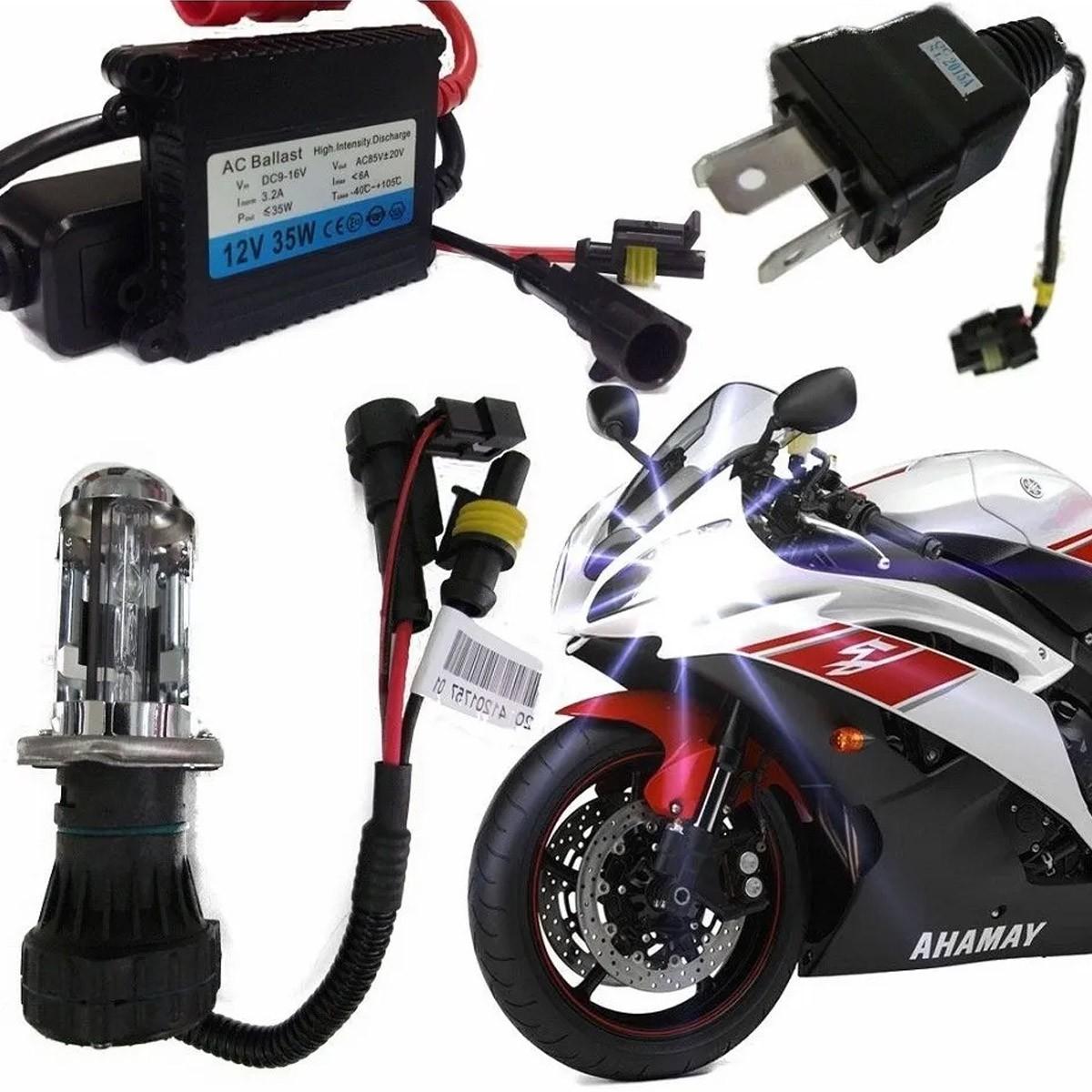 Kit Bi Xenon Moto H4-3 4300k ou 6000k
