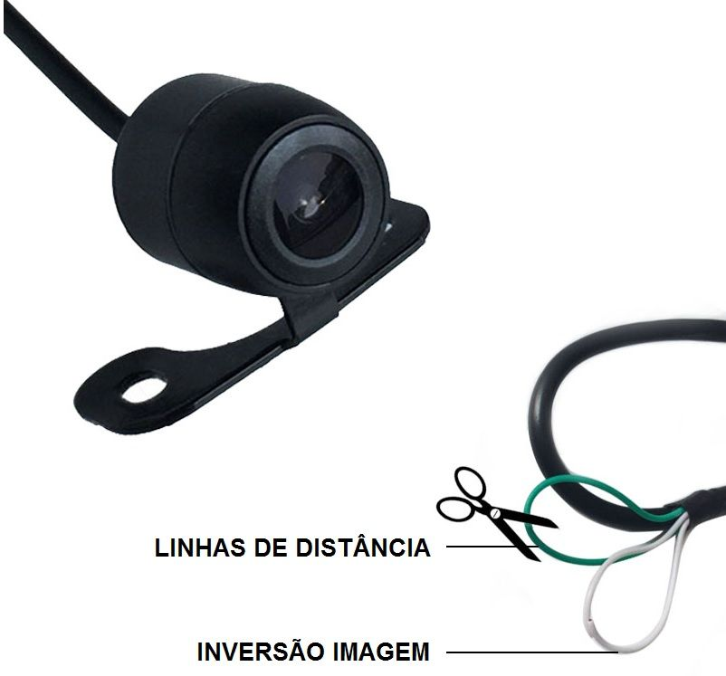 Kit Espelho Retrovisor C/Monitor Lcd 4,3 Dual Vídeo + 2 Câmeras Transporte Escolar Resolução 504/14