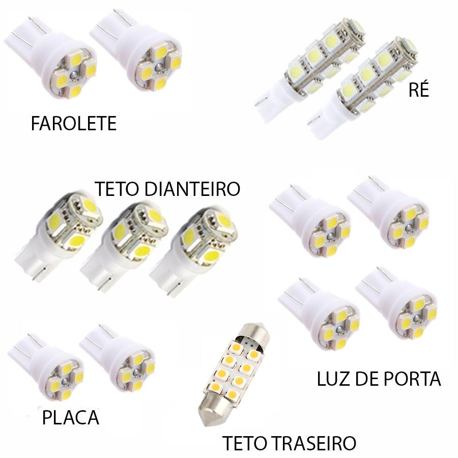 Kit Lâmpada Led Triton L200 Hpe 4x4 Luz Branca Xenon
