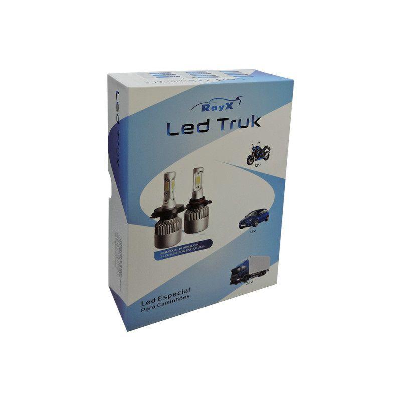 Kit Lampada LED Truck 6000K 12V 24V H1 H3 H7 H8 H9 H11 H16 H27 HB3 HB4