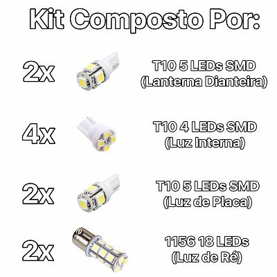 Kit Lâmpadas Led Completo Astra Placa Pingo Teto Luz Ré