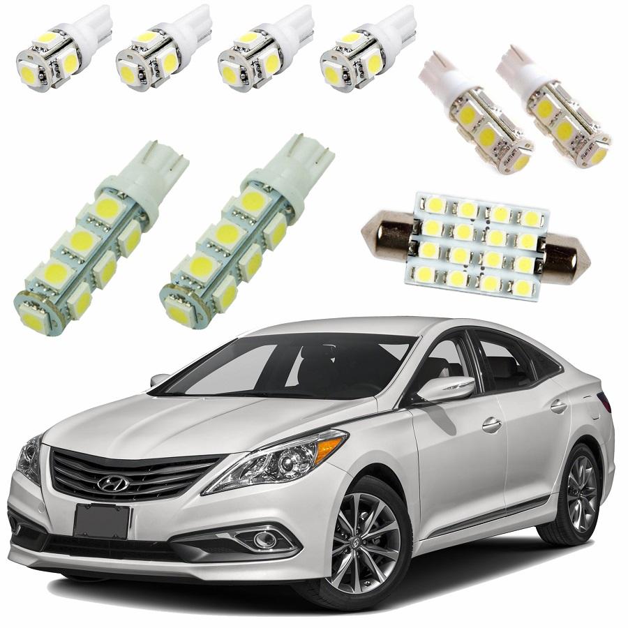 Kit Lâmpadas Led Completo Hyundai Azera Pingo Teto Placa Ré