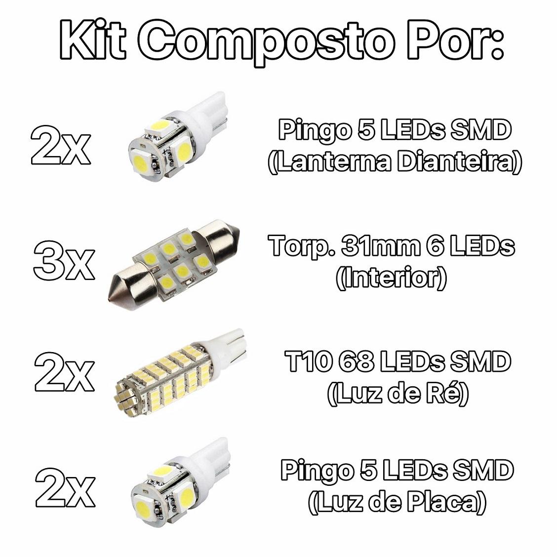 Kit Lâmpadas Led Completo I30 Placa Pingo Teto Luz