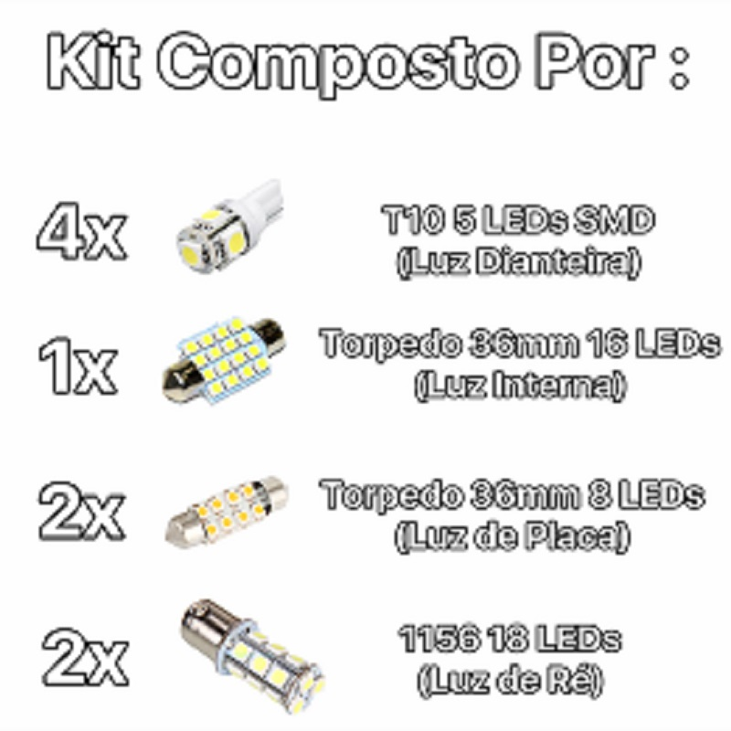 Kit Lâmpadas Led Completo Polo Placa Pingo Teto Ré