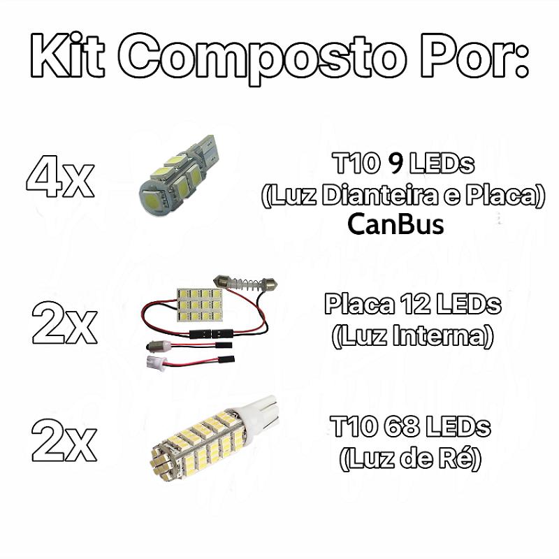 Kit Lâmpadas Led Completo Punto Placa Pingo Teto Luz De Ré
