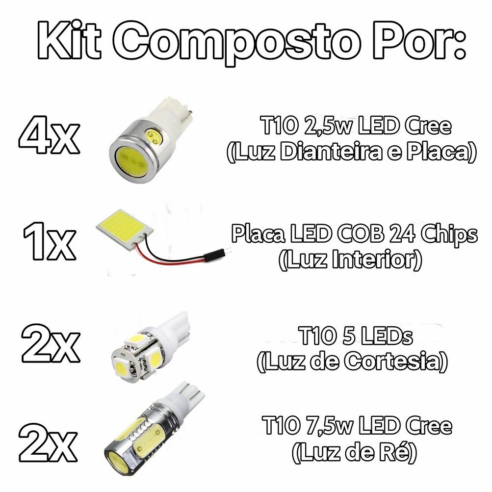 Kit Lâmpadas Led Premium Fox Placa Pingo Teto Luz De Ré