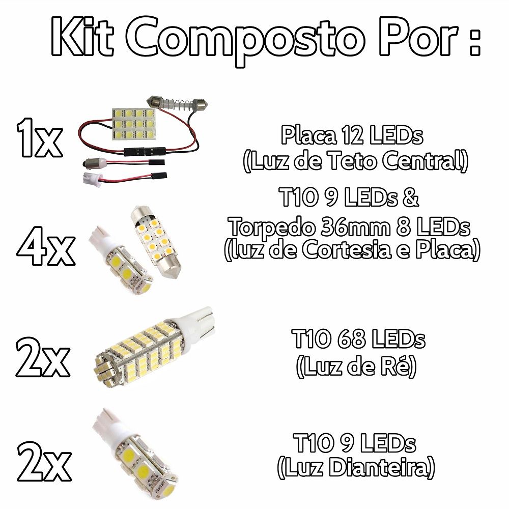 Kit Lâmpadas Led Tucson