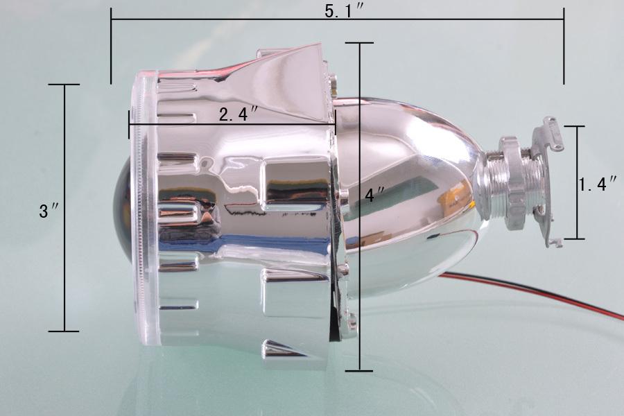 Kit Projetor Farol Bi Xenon  Retrofit H4 H7 2,5 Polegadas