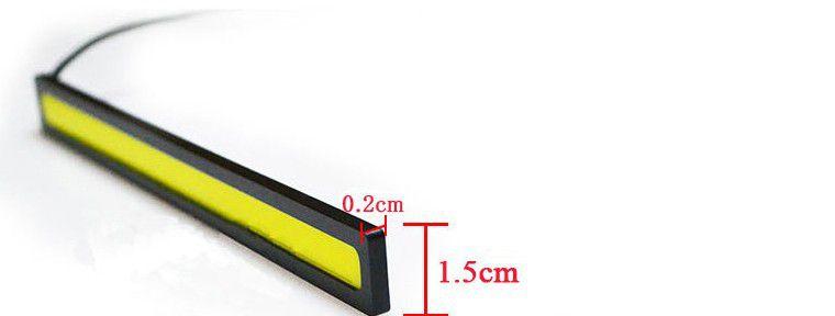 Kit Strobo Controle S/Fio Com 4 barras Led COB DRL de 14cm