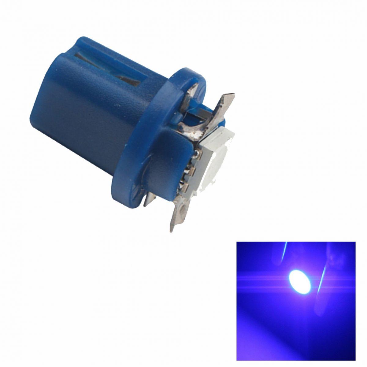Lâmpada B8.5 1 Led SMD Painel Azul