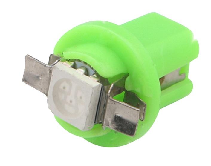 Lâmpada B8.5 1 Led SMD Painel Verde