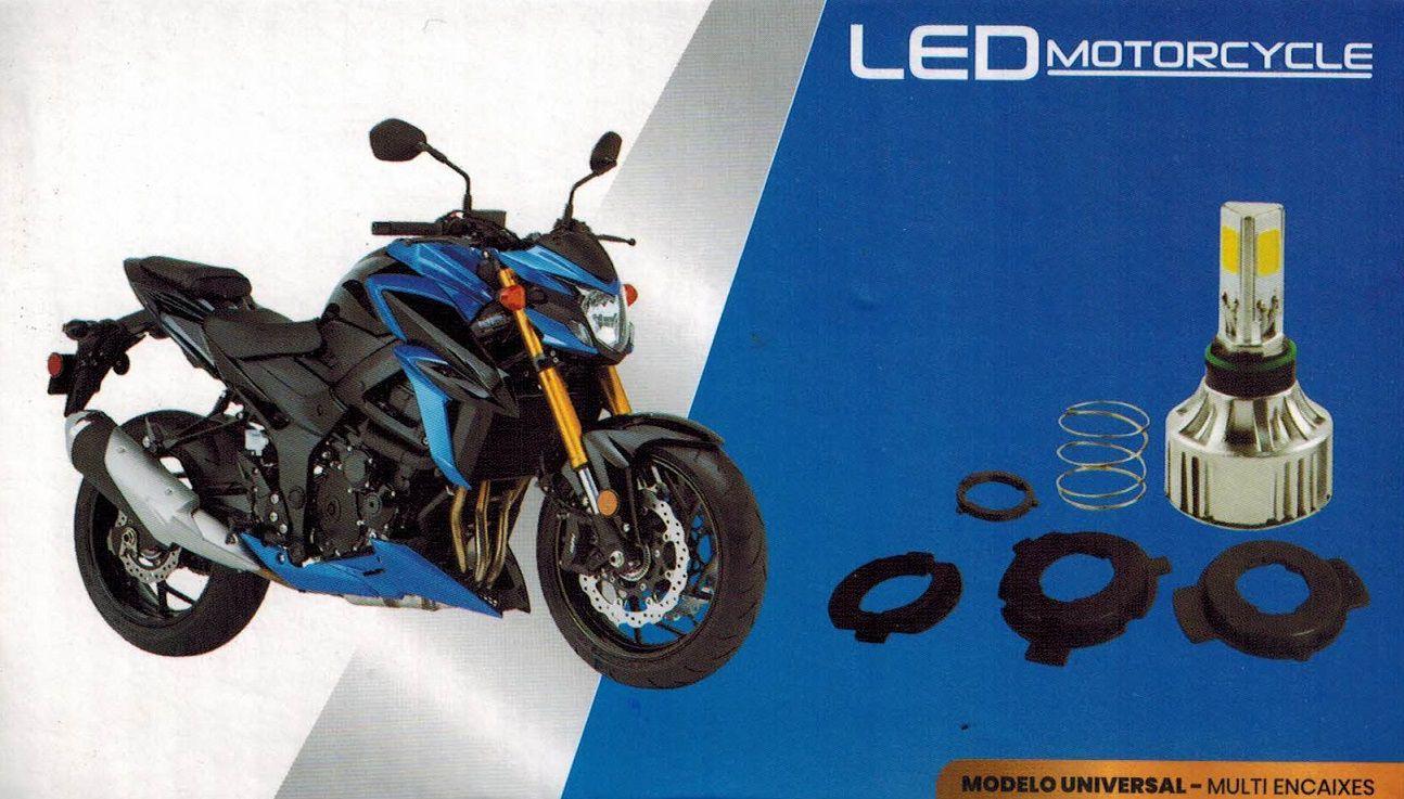 Lampada Farol Led Moto 6000k 4000 Lúmens H4 H6 PH7 PH8