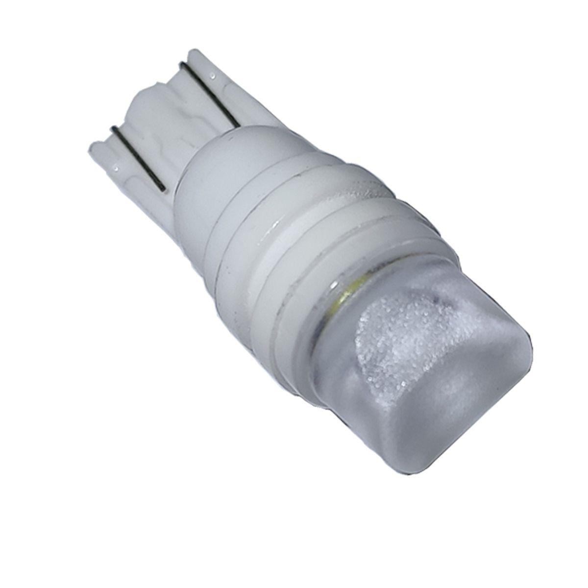 Lâmpada LED T10 3 CREE C/ Lente Pingo W5W Kit C/ 10