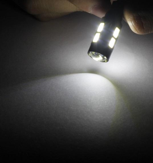 Lâmpada LED T10 5630 10 SMD w5w Branco Com Lente