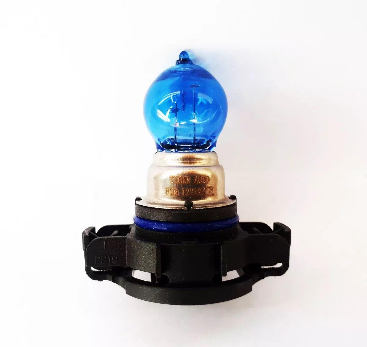 Par Lâmpada Super Branca H16 19w PSX 24W 12v Efeito Xenon Premium Inmetro