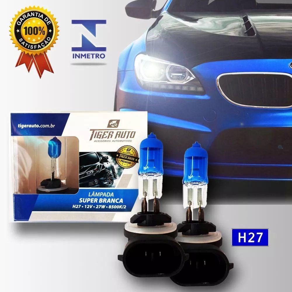 Par Lâmpada Super Branca H27 27w 12v Efeito Xenon Premium Inmetro