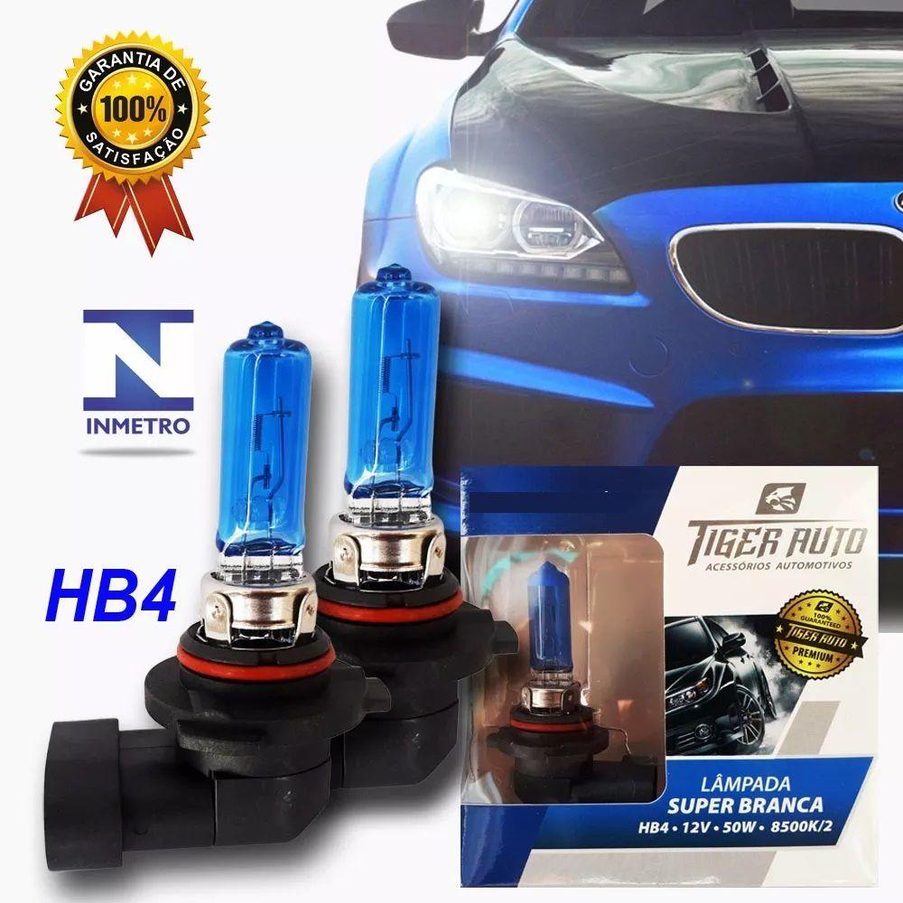 Par Lâmpada Super Branca HB4 50w 12v Efeito Xenon Premium Inmetro