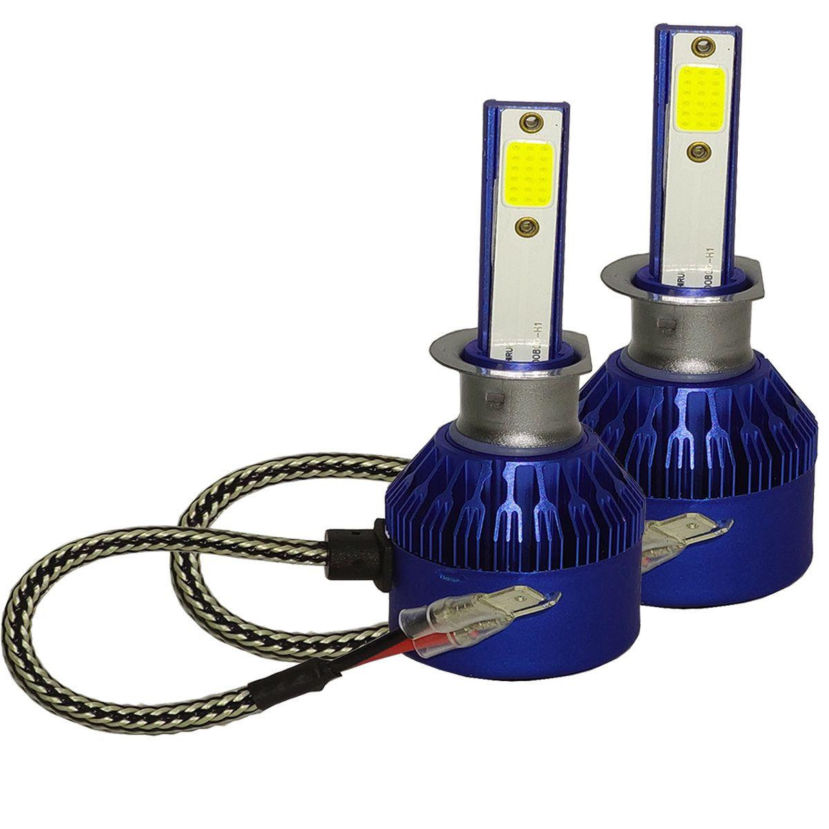 Lâmpada Super LED Light Cooler 6000k 6400 Lúmens H1