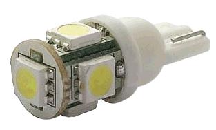 Lâmpada T10 5 Led Smd 24v T10 W5w Esmagadinha Lampada Caminhão