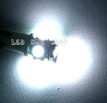 Lâmpada T10 5 Led Smd W5w Esmagadinha Xenon Tuning Lampada Pingo