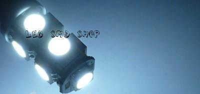 Lâmpada T10 9 Leds Smd Pingo W5w Esmagadinha Tuning Xenon