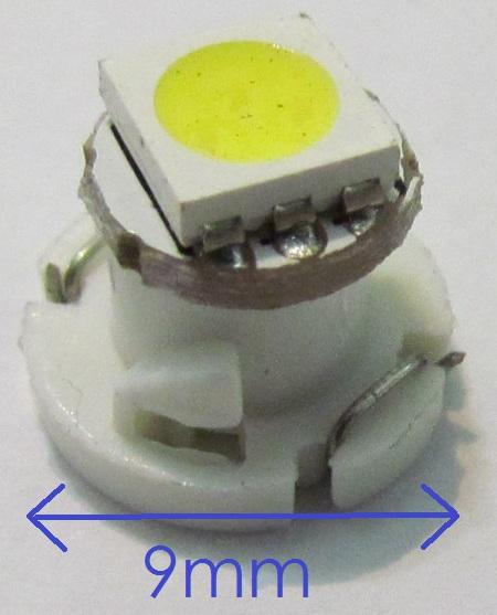 Lâmpada T4.2 1 Led SMD Painel Verde