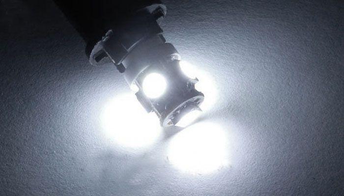 Led Lâmpada 69 5 Leds Smd Ba9s Branco Xenon Kit c/10 atacado