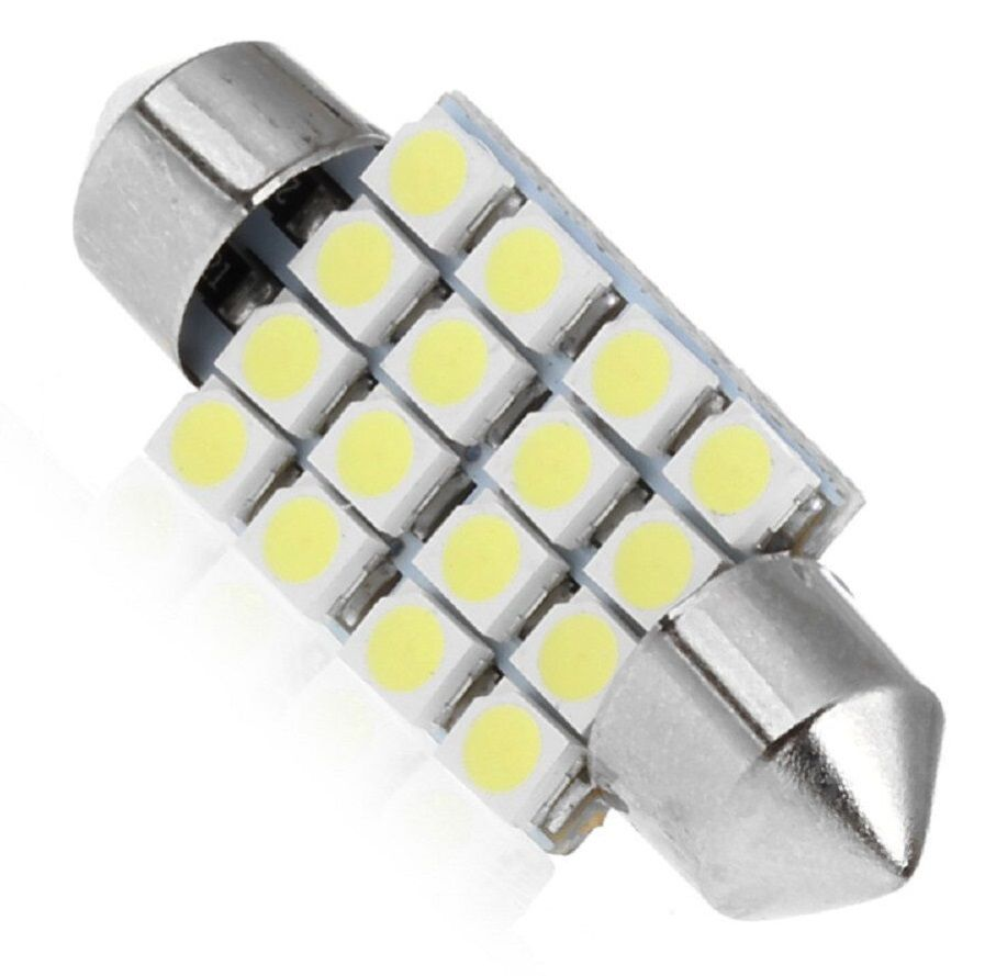 Led Torpedo 36 Mm 16 Smd Luz Cortesia Placa Teto Xenon Kit c/10 Atacado