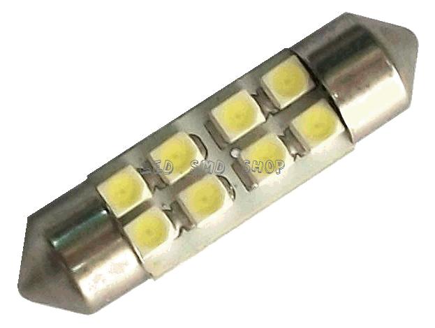 Led Torpedo 36mm 8 Smd Luz Cortesia Placa Teto Xenon Kit c/10 Atacado