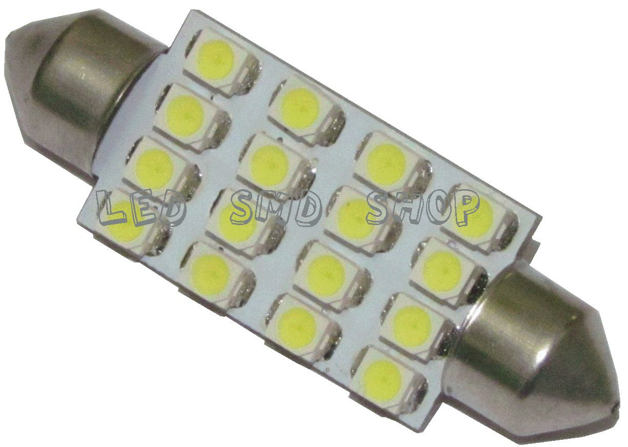 Led Torpedo 42 Mm 16 Smd Luz Cortesia Placa Teto Kit c/10 Atacado