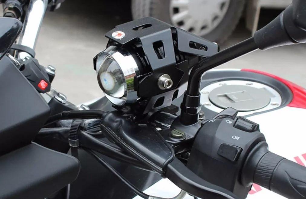 Par Farol Auxiliar Milha Universal Led Cree 5W Moto 12v Projetor