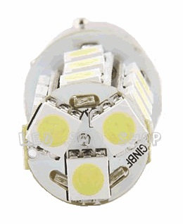 Par Lampada 1157 18 Smd Led Dois Pólos Lanterna Freio Luz