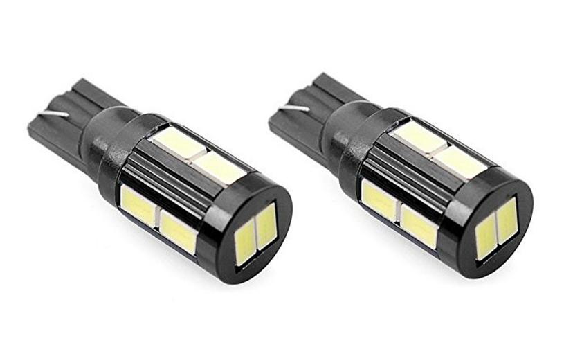 Par Lâmpada LED T10 5630 10 SMD w5w Branco