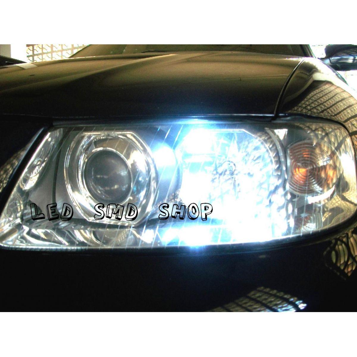 Par Lâmpada LED T10 5 SMD W5w Esmagadinha Xenon Tuning
