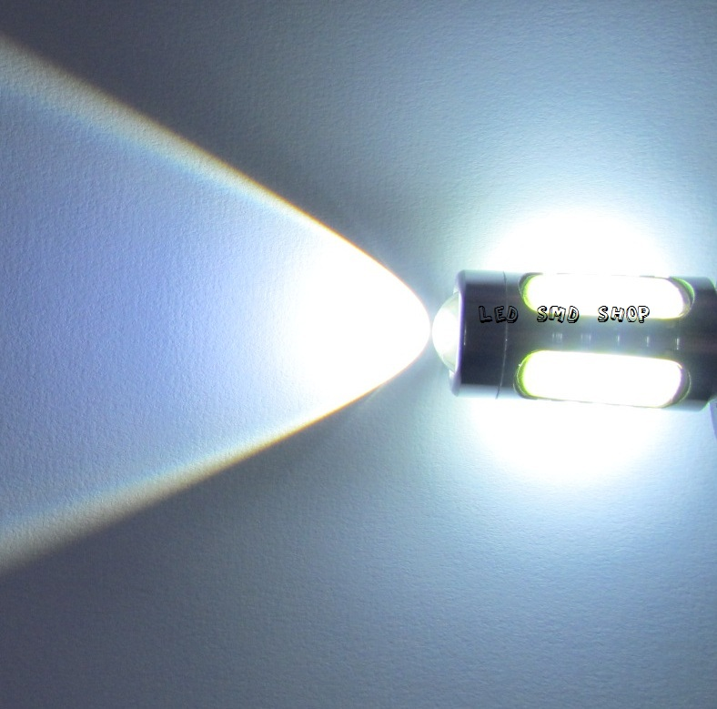 Par Lampada Ré 11w Led Cree Q5 Luz 1156 P21w Efeito Xenon